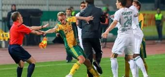 1 мяч и массовая потасовка на поле — вот чем запомнился матч в Краснодаре