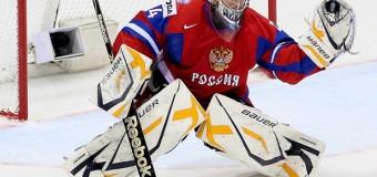 «0» в графе пропущенных шайб Барулина принёс победу России