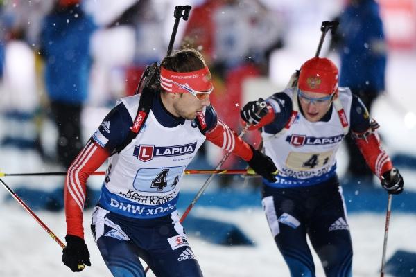 1-е и 2-е место в рейтинге биатлонистов России заняли Шипулин и Гараничев