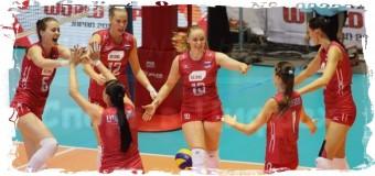 1-е место в Группе С заняли россиянки на ЧЕ-2015 по волейболу