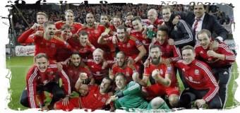 1-й раз в истории футболисты Уэльса пробились на чемпионат Европы